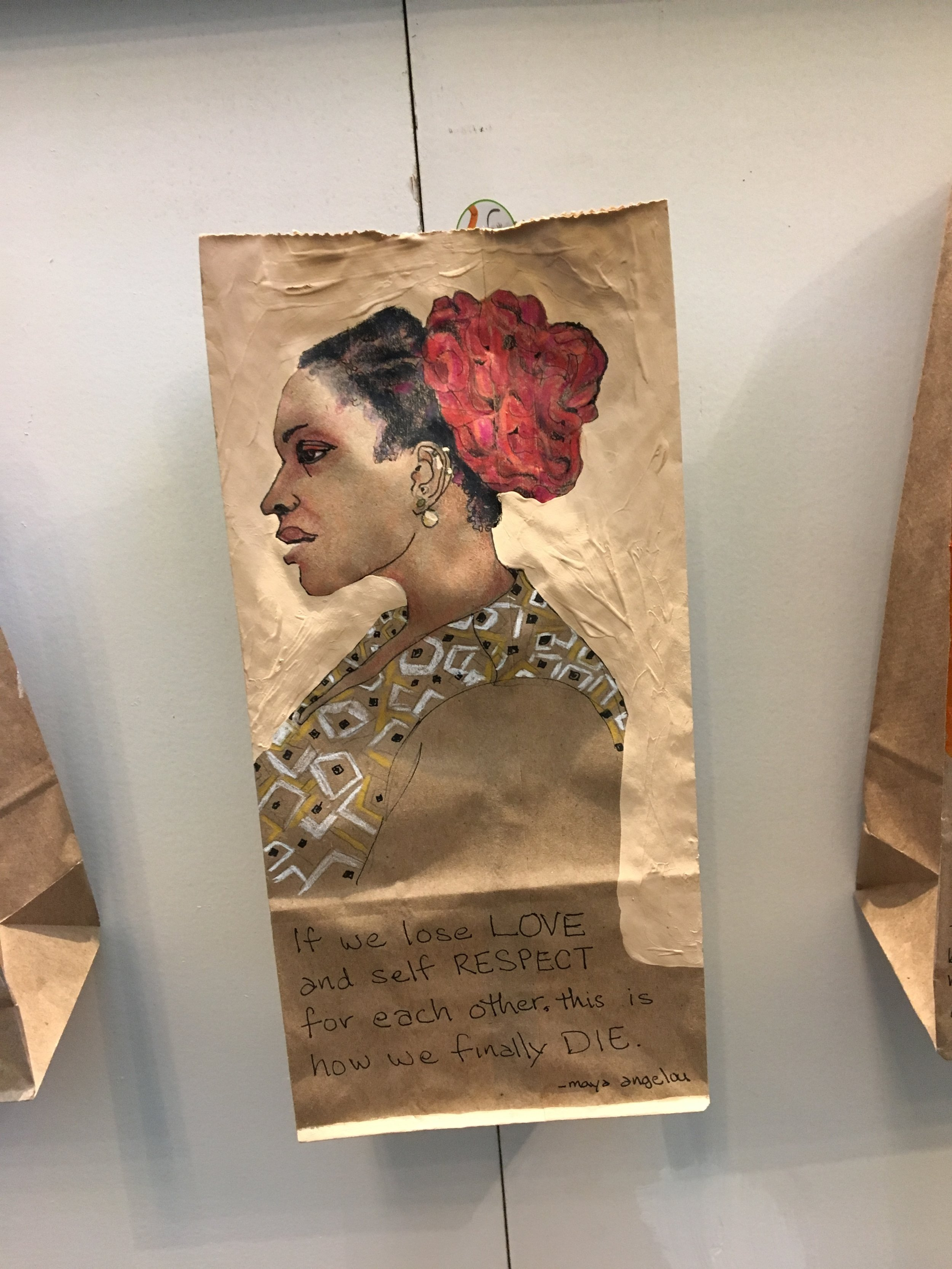 brown paper bag portraits