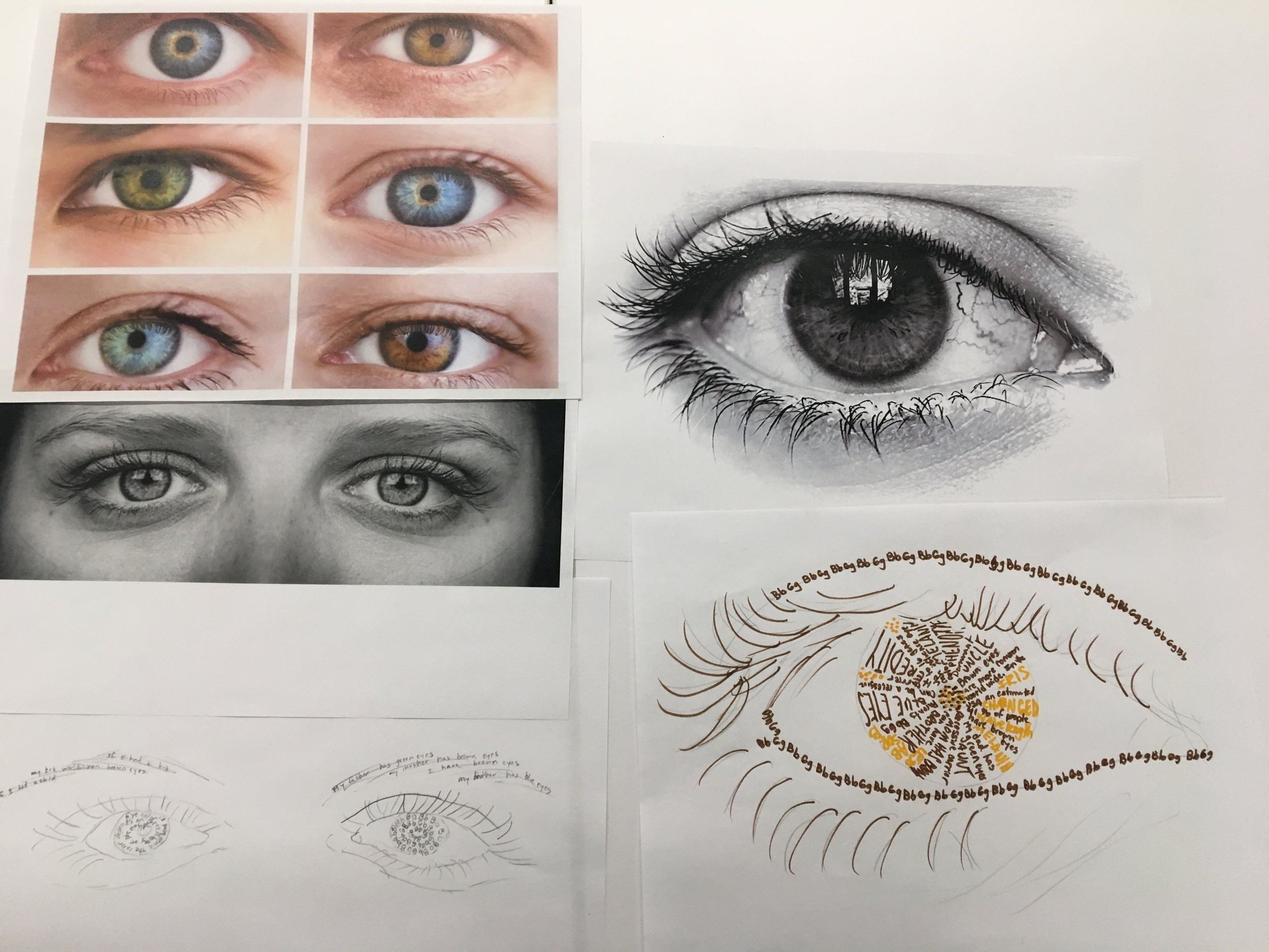 Genetics TYPOGRAPHY Art, STEAM class