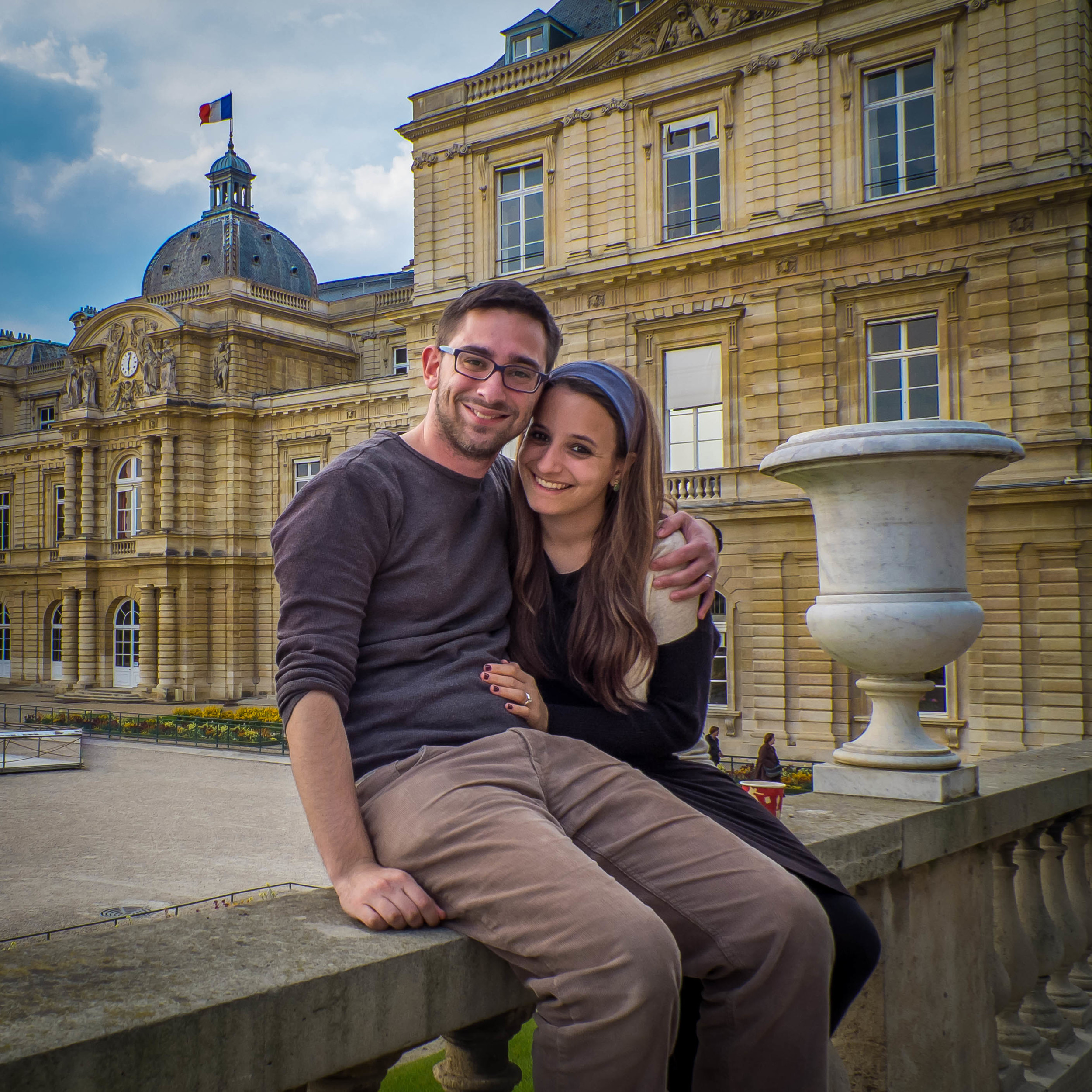 My wife and me in the Jardin de Luxembourg, Paris, France