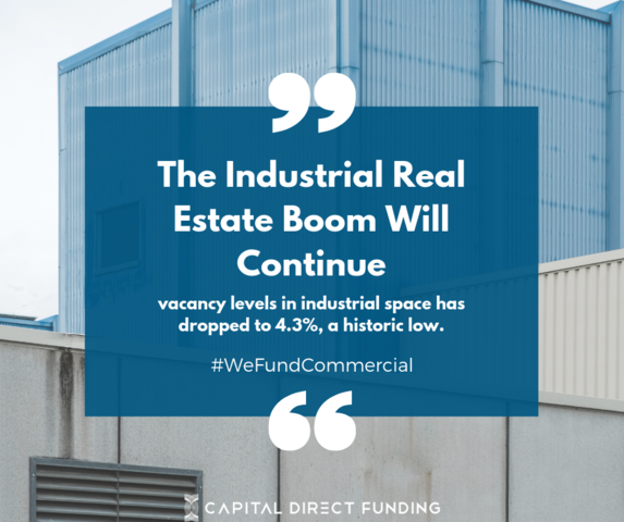 #RealEstateBoom - The Industrial Industry is thriving in working areas.This allows us to work with Investors and Commercial Real Estate Professionals often.Giving us that edge in the changing market.