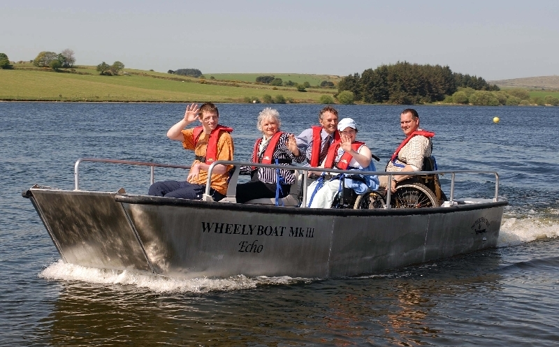 Enjoying a day on the water - Sibleyback Reservoir, Bodmin Moor