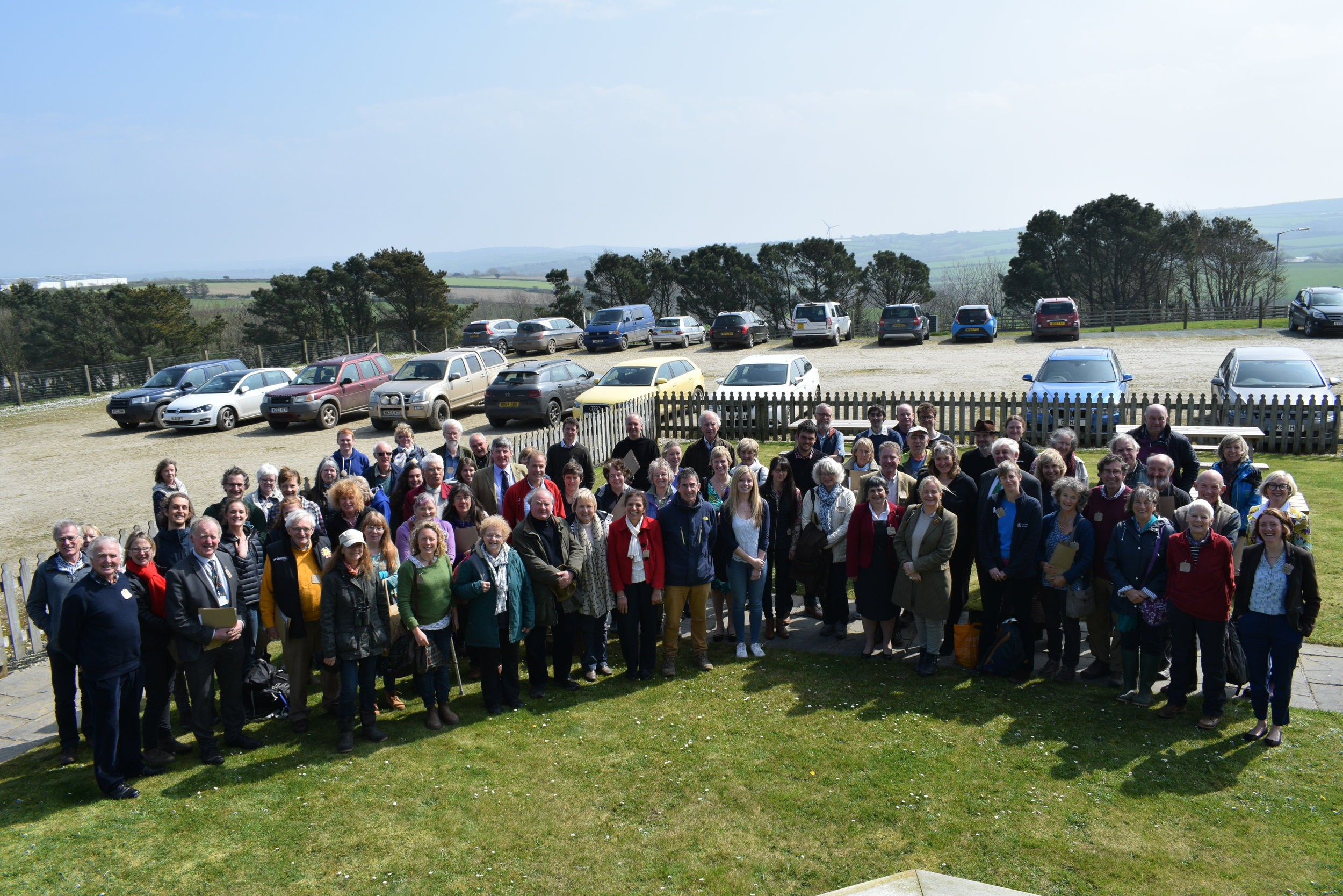 The delegates assembled for the photo call after lunch