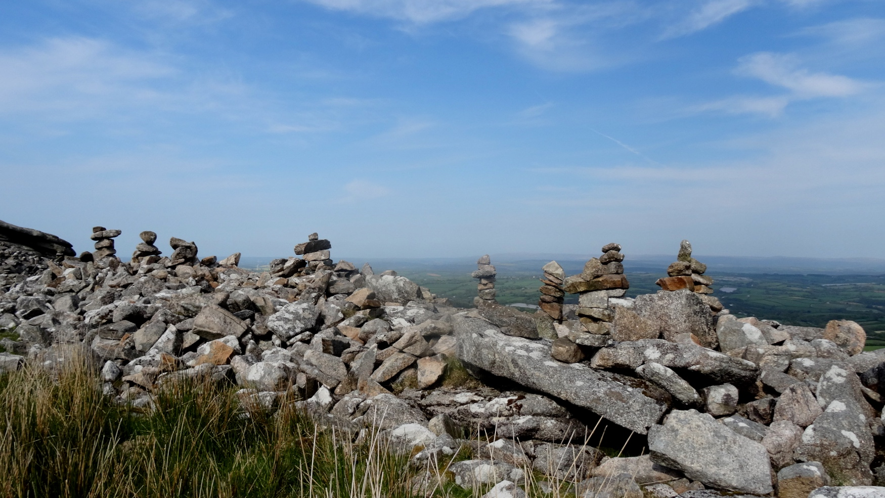 """""""Fairy castles"""" examples of unintentional vandalism on Stowe's Pound, Bodmin Moor"""