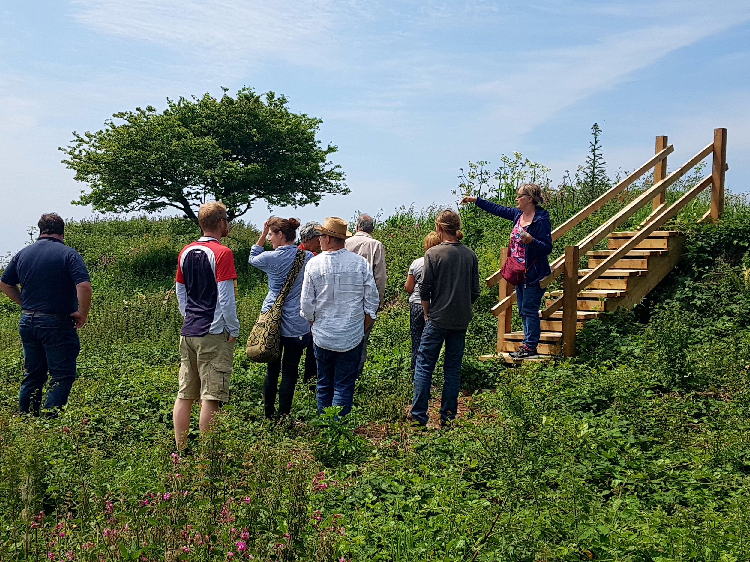 Rame Conservation Trust volunteers learn how to record scheduled forts in our beautiful Rame Head section under the professional gaze of Cornwall Archaeological Unit's James Gossip