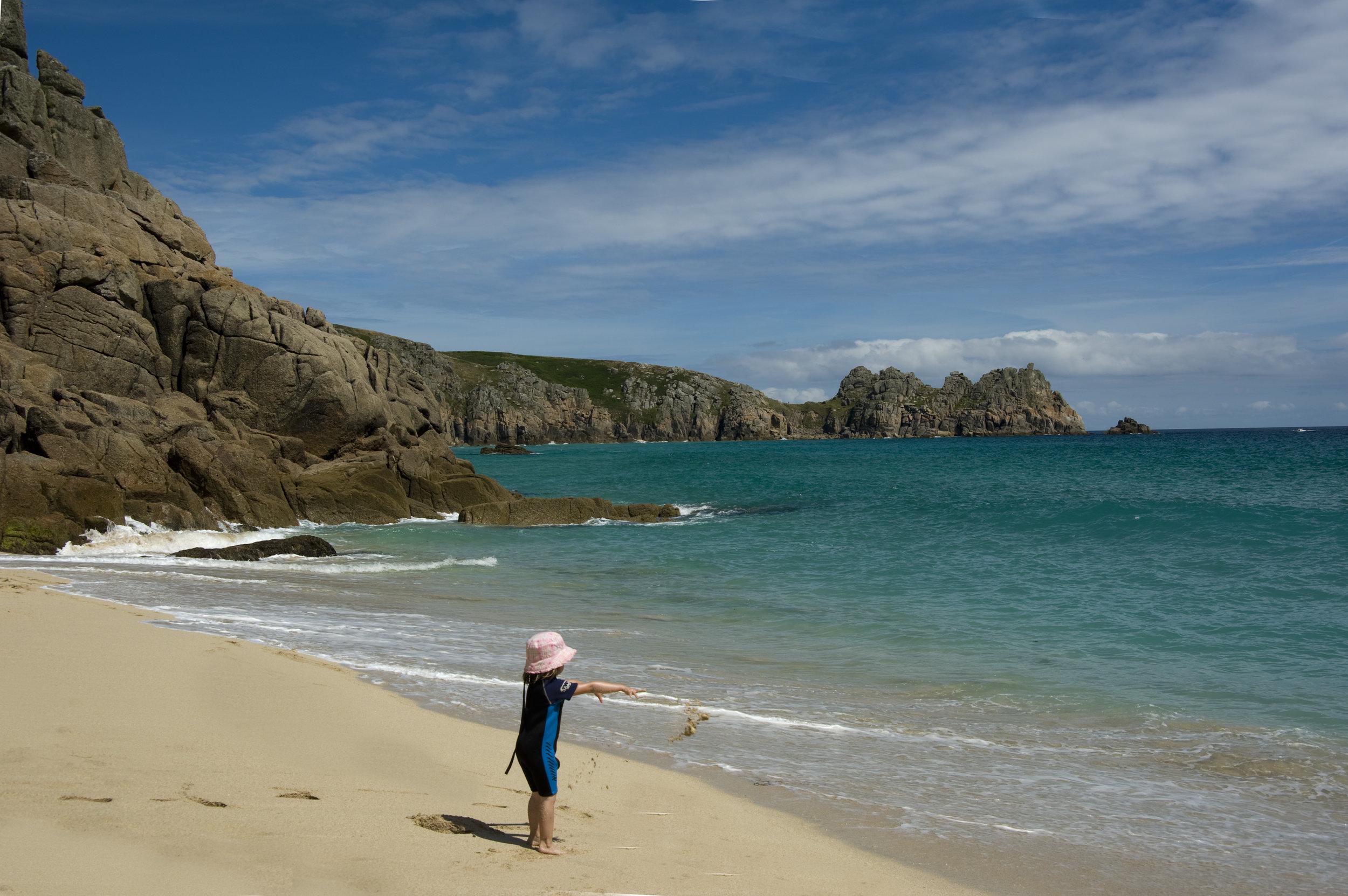62- Reginald Poad - Beautiful Sands at Porthcurno.jpg