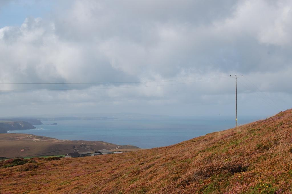 Overhead cables at St Agnes Beacon