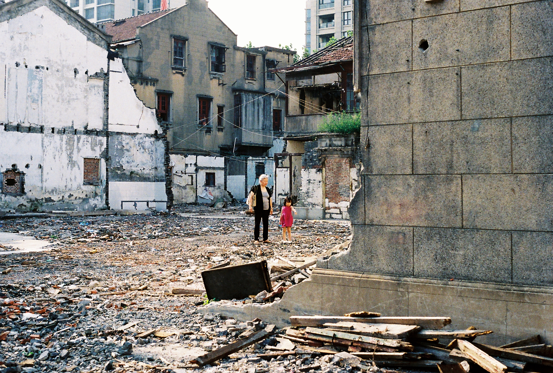 Torn down housing Shanghai