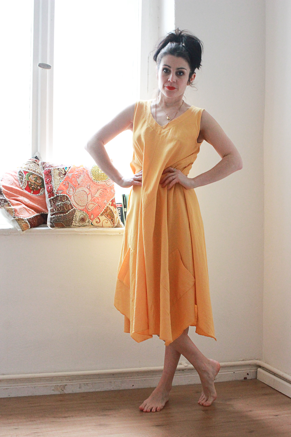Sunburst Yellow Trapeze Dress