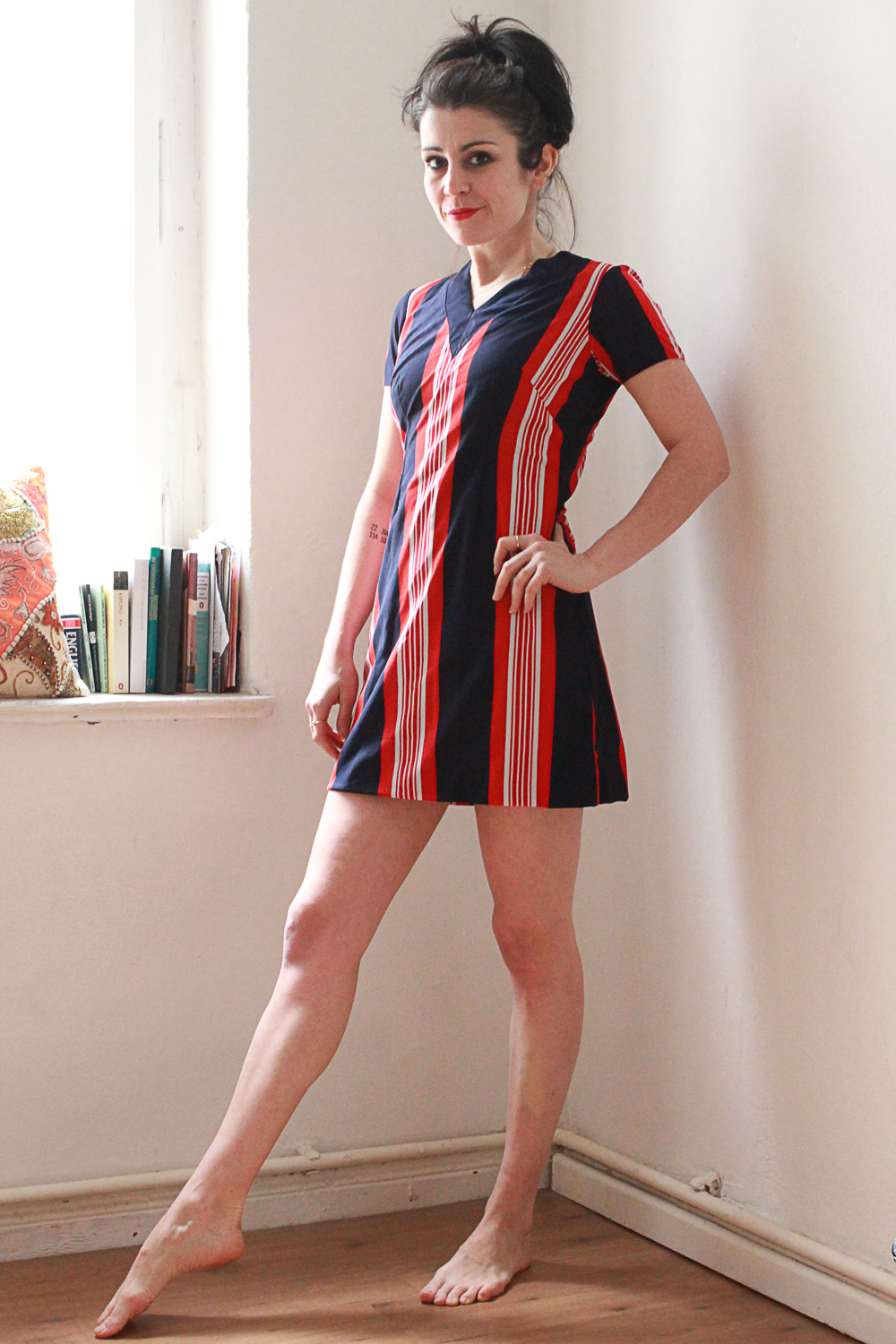 Striped Tennis Mini Dress