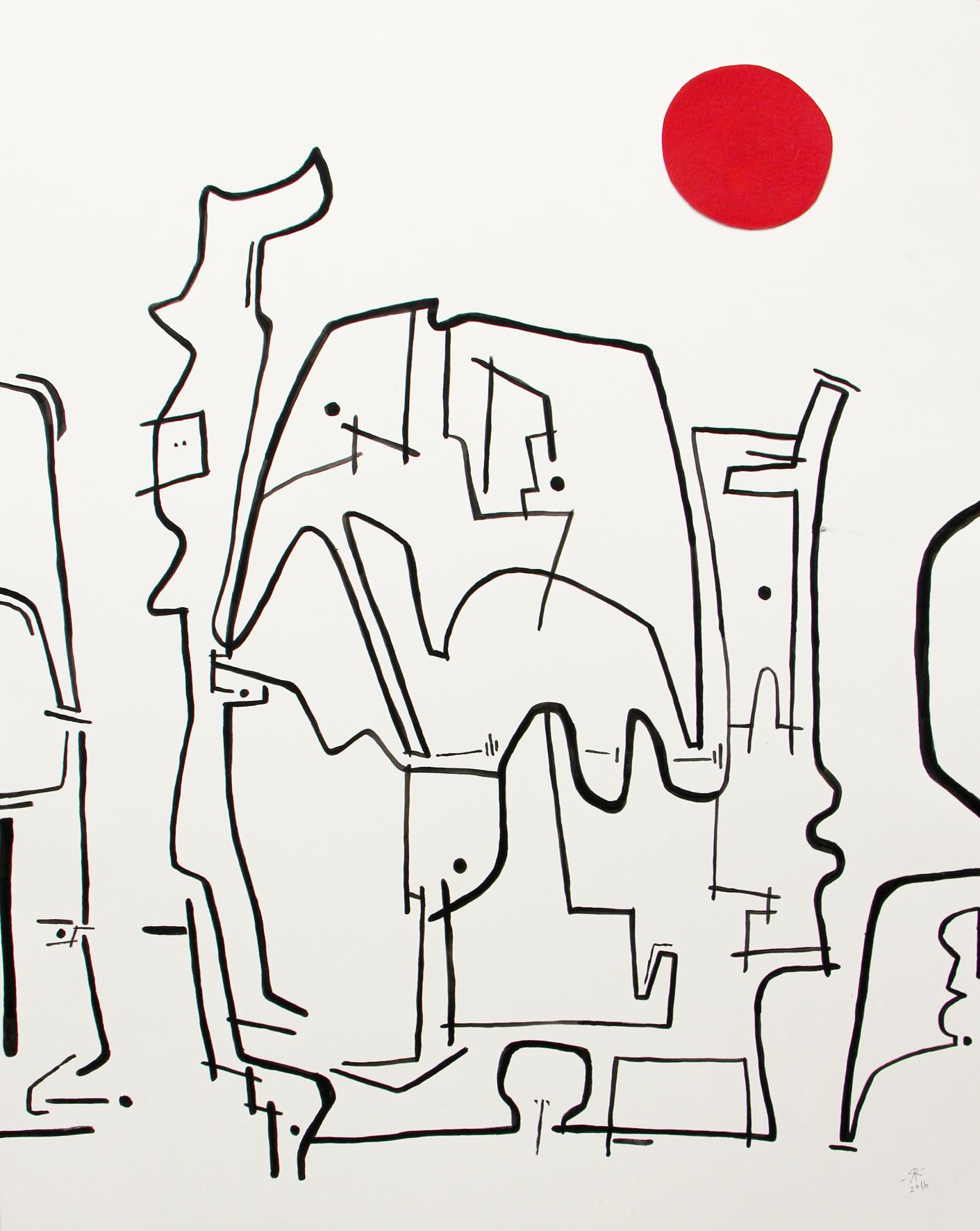 Renée Rossouw The Elephant Faces Mixed Media 53.5 x 41.5 cm R3 800