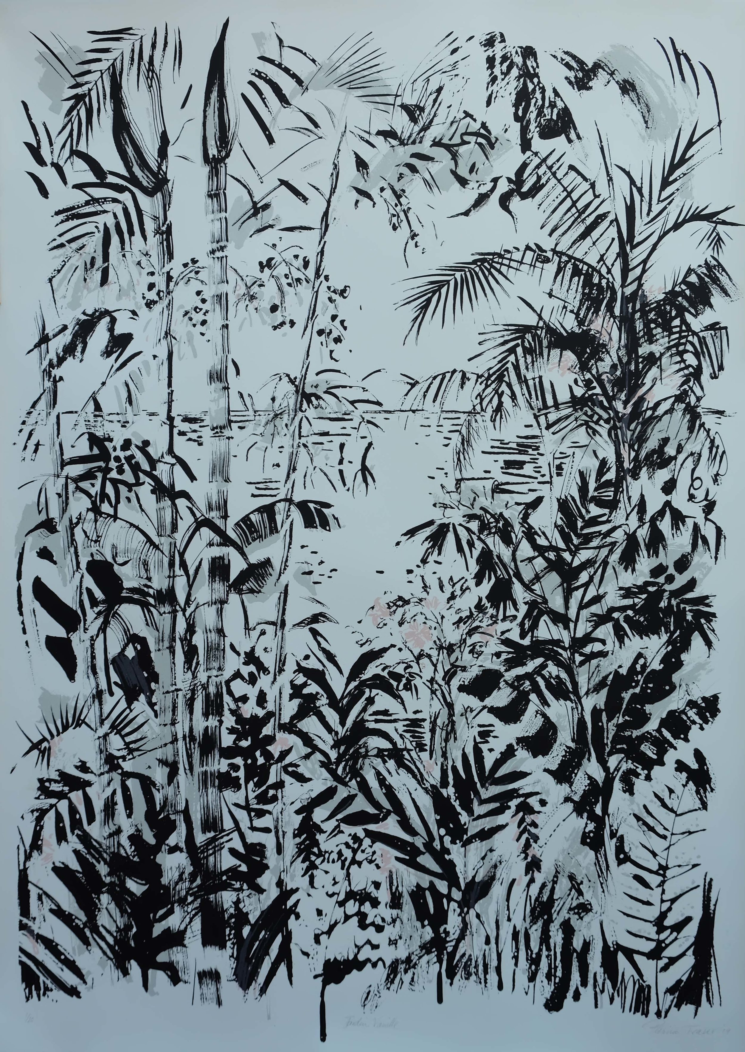 JARDINE VANILLE  76 x 56cm  Silk Screen Print  Editioned out of 20  R 2 400