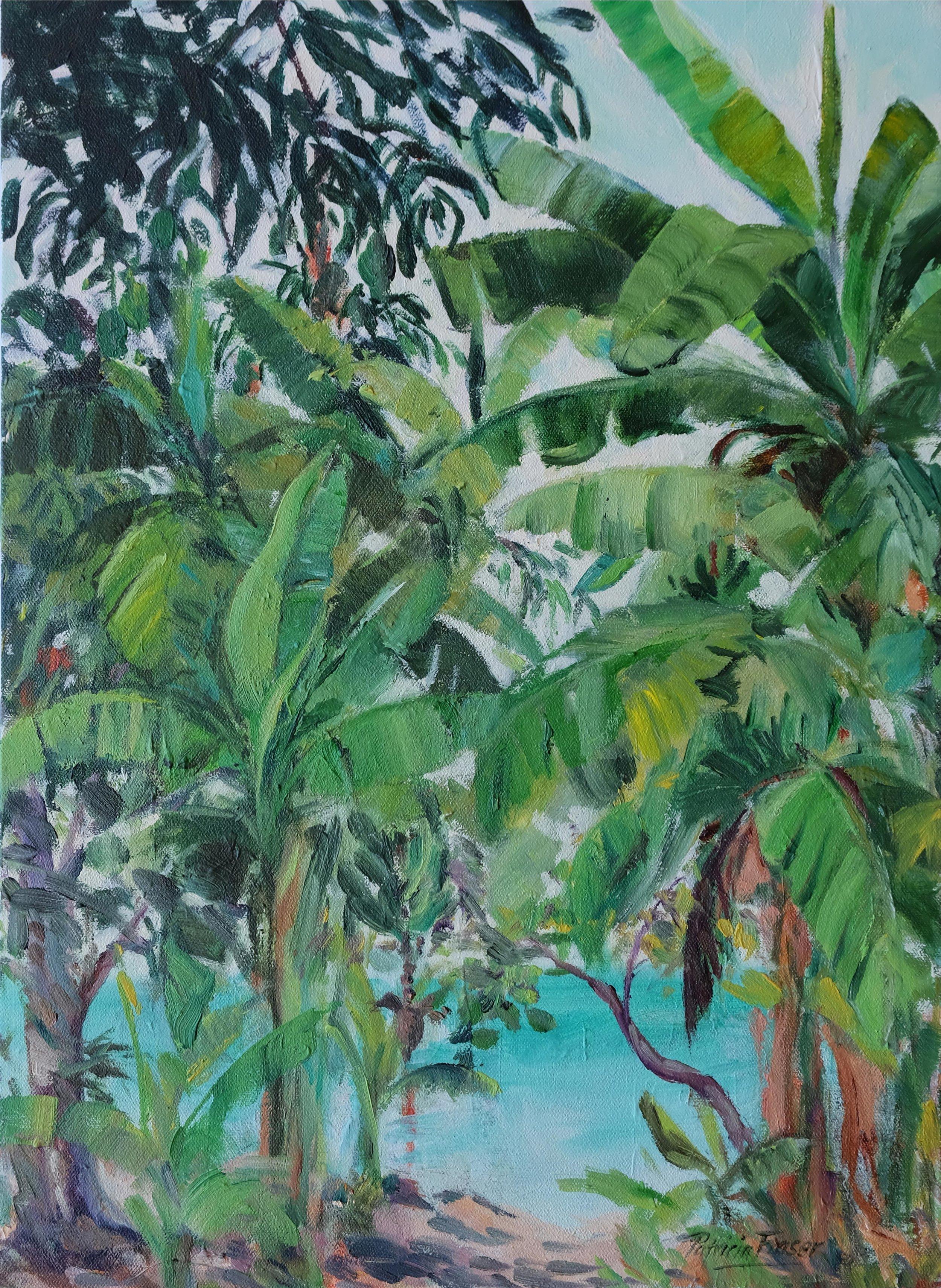 BANANAS AND SEA  54 x 40cm Oil on Canvas R 8 400