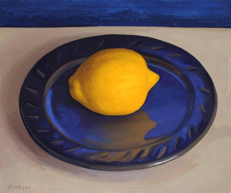 Lemon   Oil on Panel 25 x 30cm R6 200