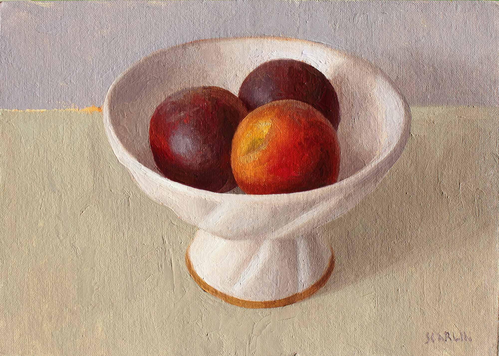 Three Peaches   Oil on Artist Canvas Board 25 x 35cm R7 400