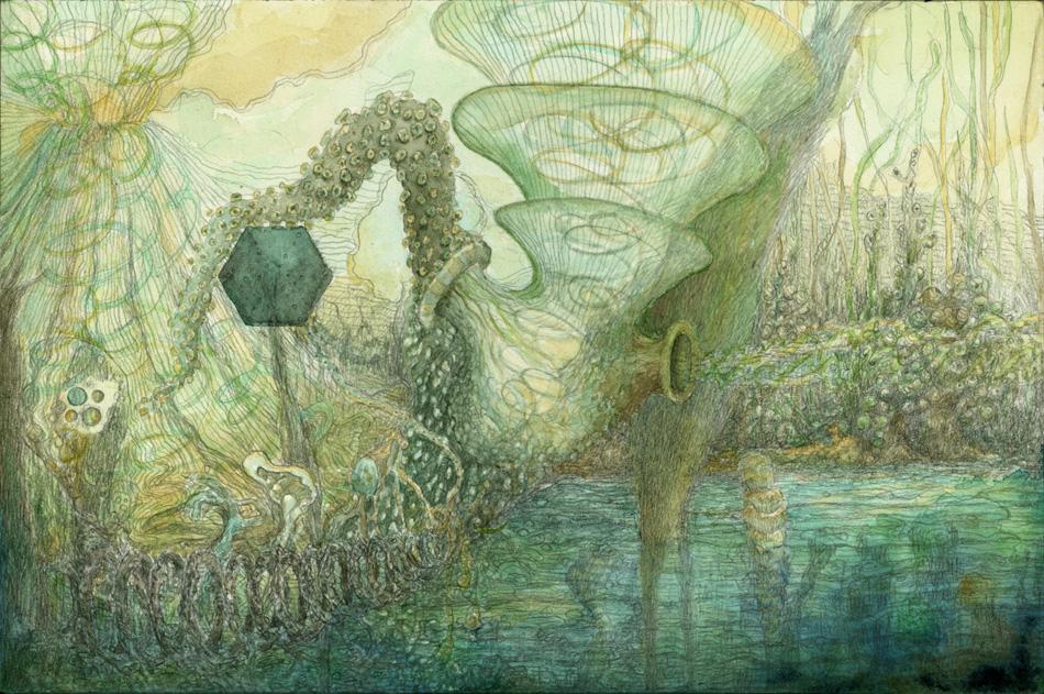 Mollusc, 2008, gouache and pencil on paper, 18x27cm.jpg