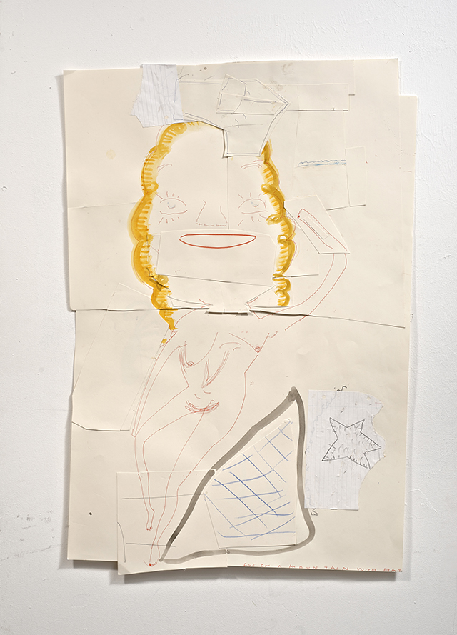 Eve on a Mountain with Hat 2012 Pencil and Watercolour on Paper 91 x 63 cm Rose Wylie_LR.jpg