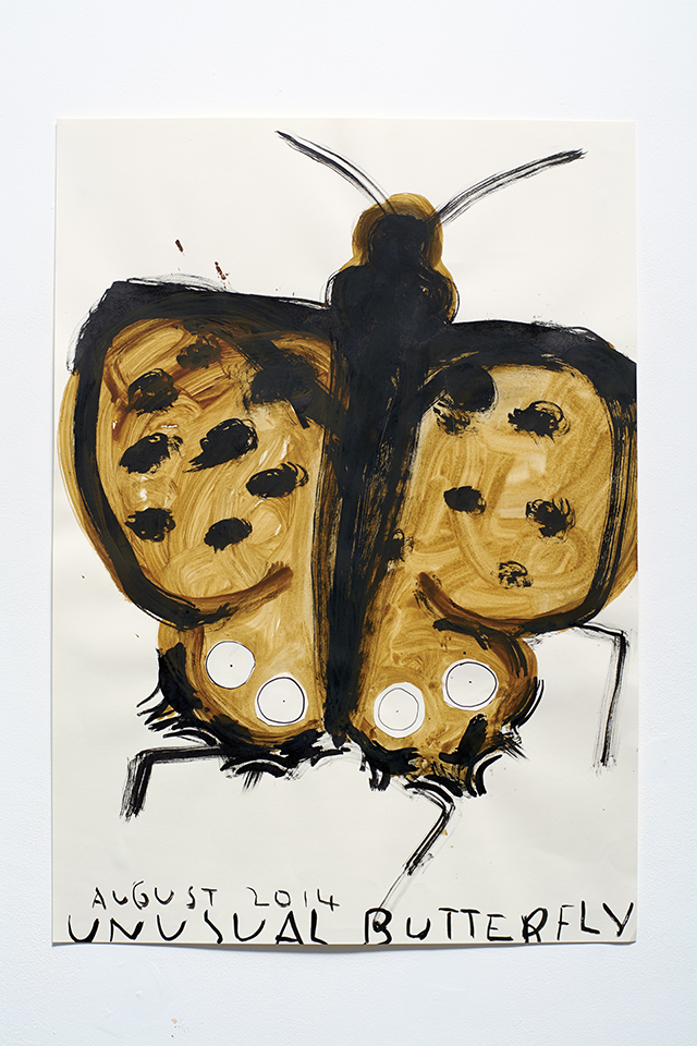 Garden Butterfly 84 x 59.5 cm 2012-14 Ink and Watercolour on Paper Rose Wylie_LR.jpg