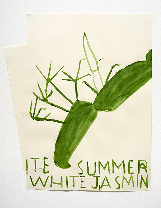 White Jasmin 2015 Watercolour and Collage on Paper A1+ Rose Wylie_LR.jpg