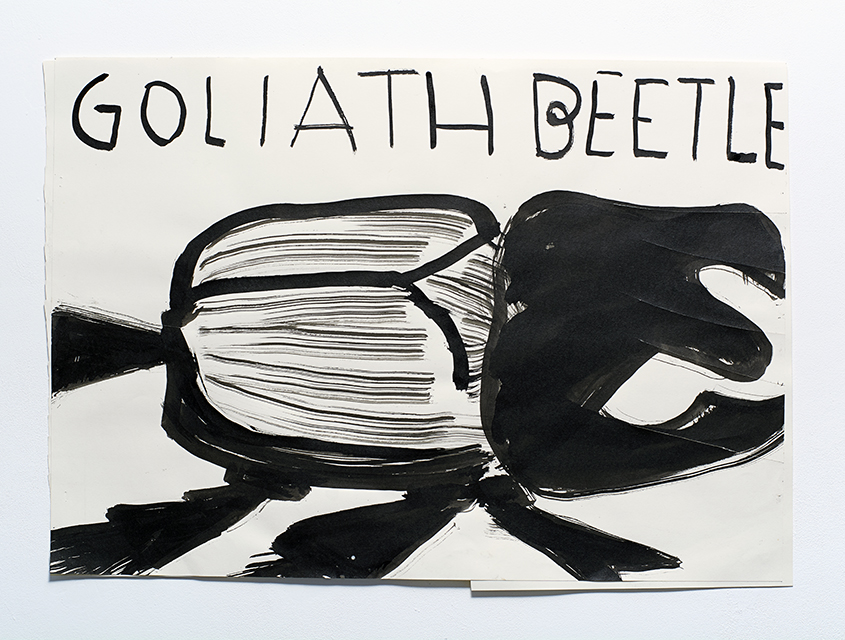 Goliath 2014 Ink and Collage on Paper 59.5 x 55.5 cm Rose Wylie_LR.jpg