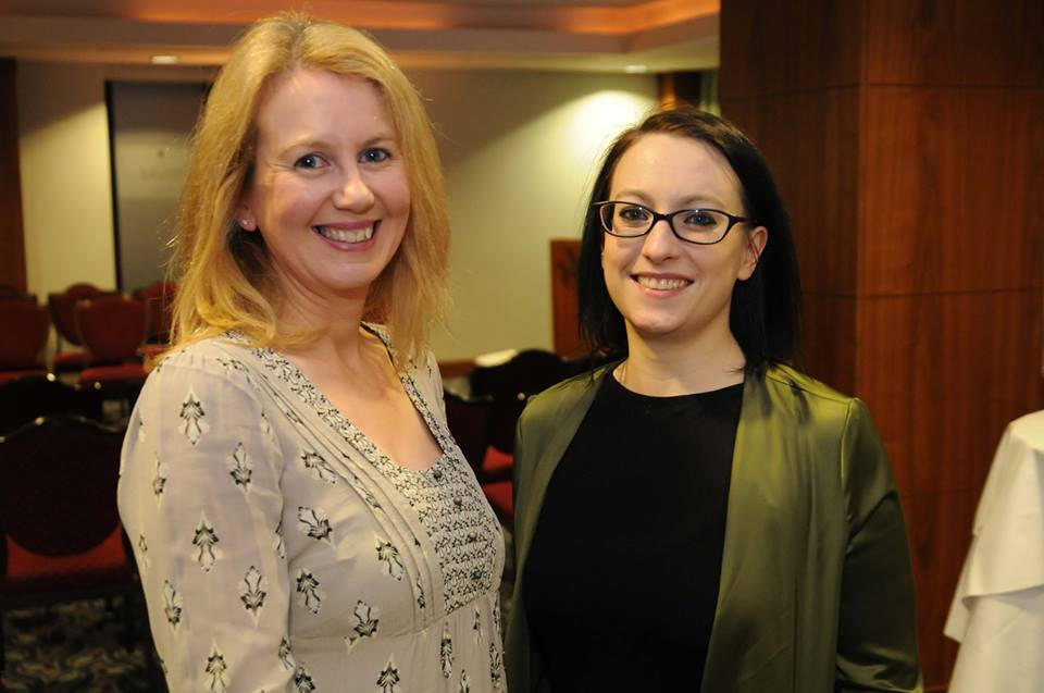 Myself and Orla from Balloons by orla at a networking event in the savoy hotel by  networking ireland limerick , picture courtesy of paul mullins photography