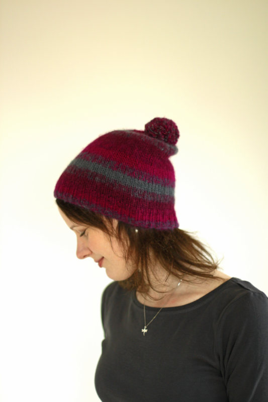 Becloud Hat three colour by Charlotte Walford