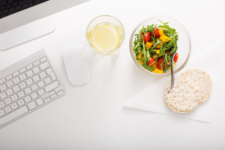 salad and drink at a work desk.jpg