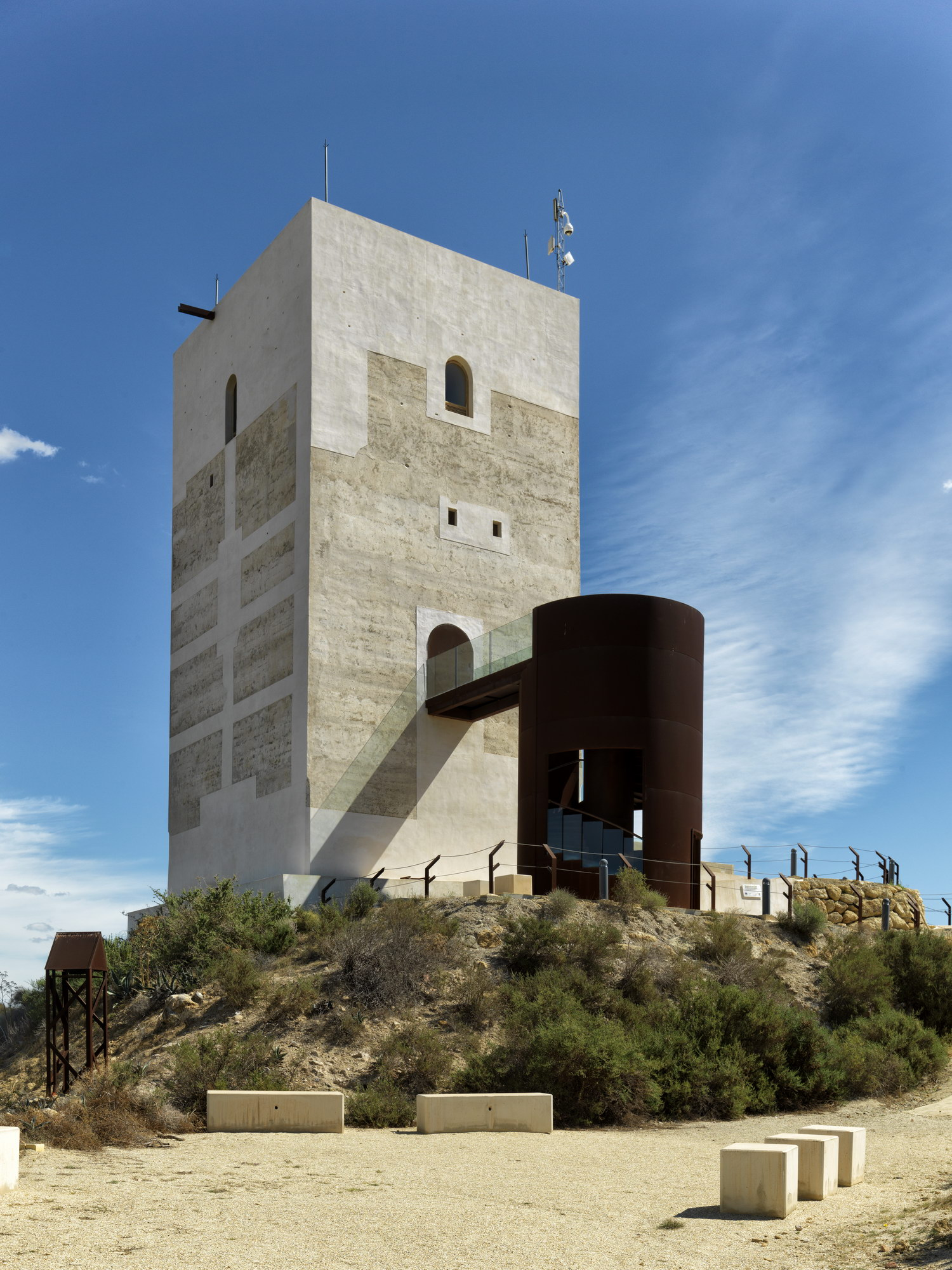 Above, the Tehran brigand below the Nasrid tower in Spain