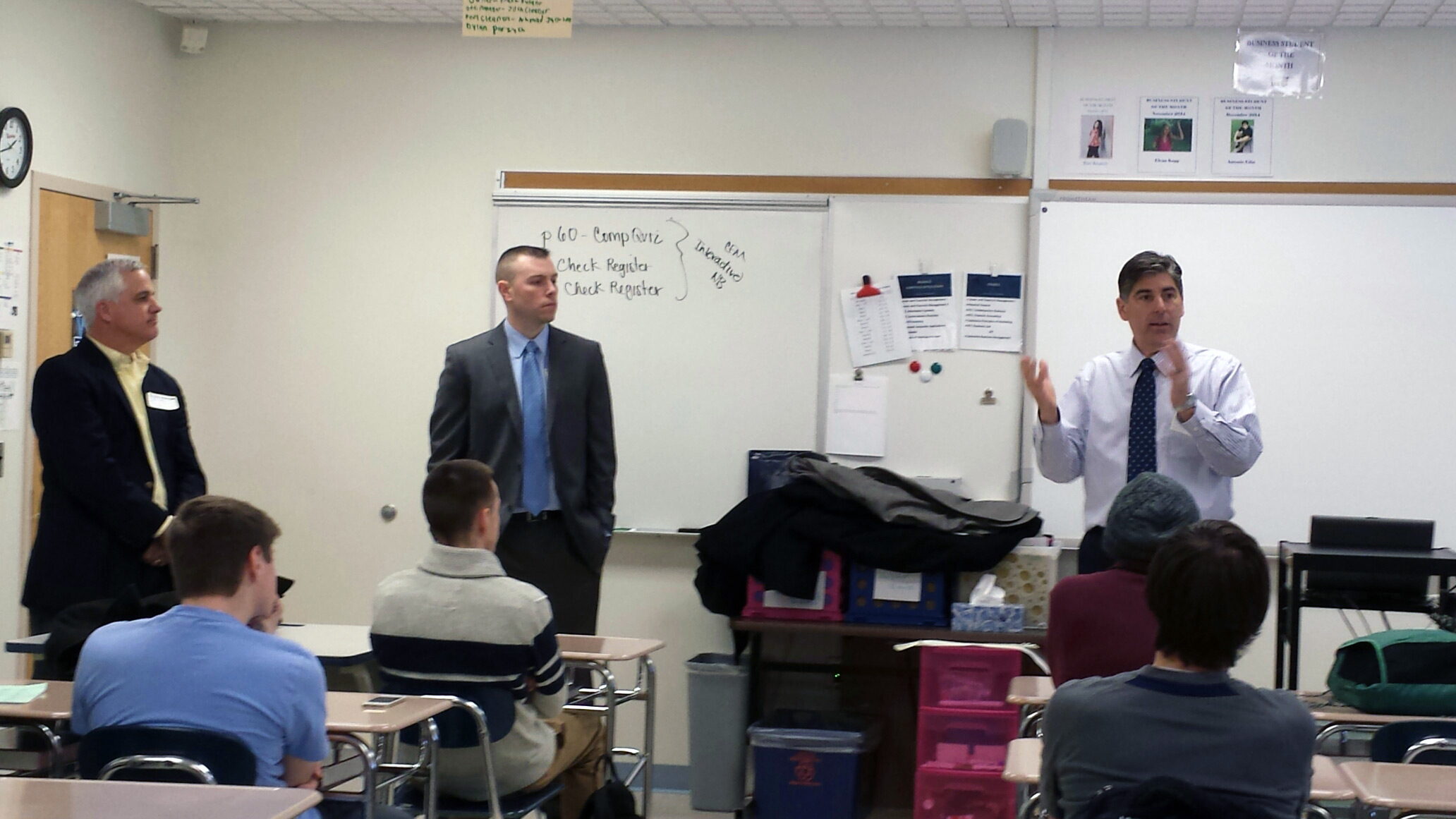Speaking to high school students for Project InVEST