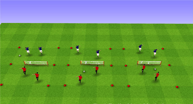 Warm up - soccer tennis. A simple activation activity as players arrive for sessions to get heading repetitions.