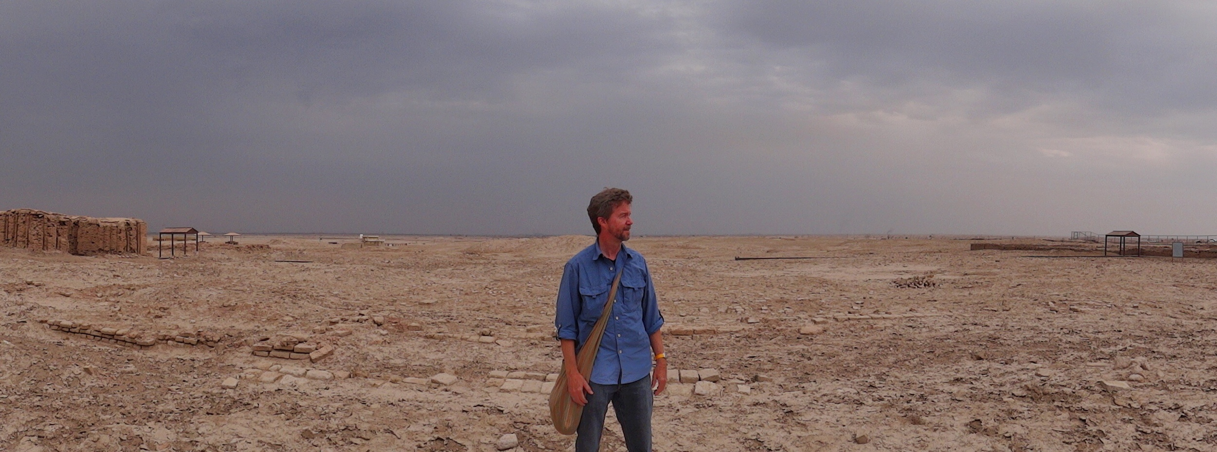 On the plains of Ur, southern Iraq, the day before the incident in Baghdad.