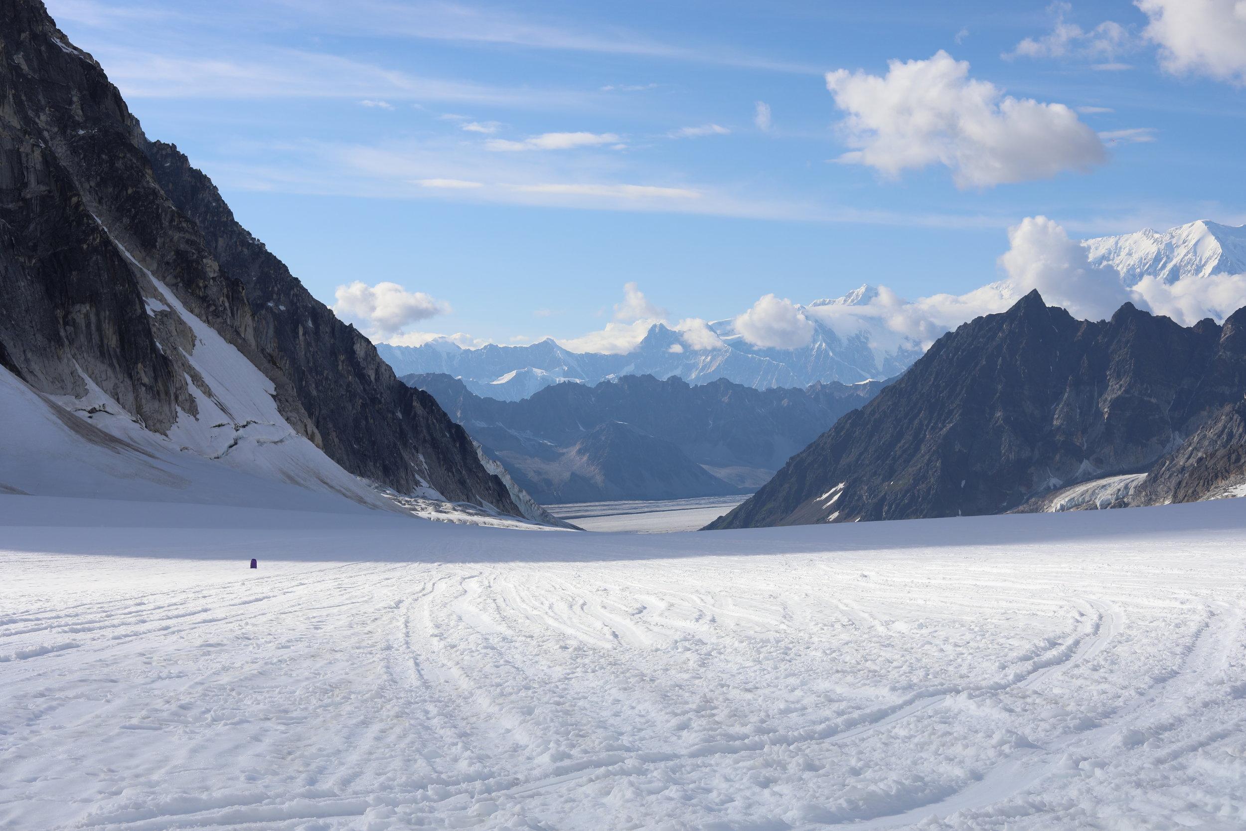 Runway on a glacier.