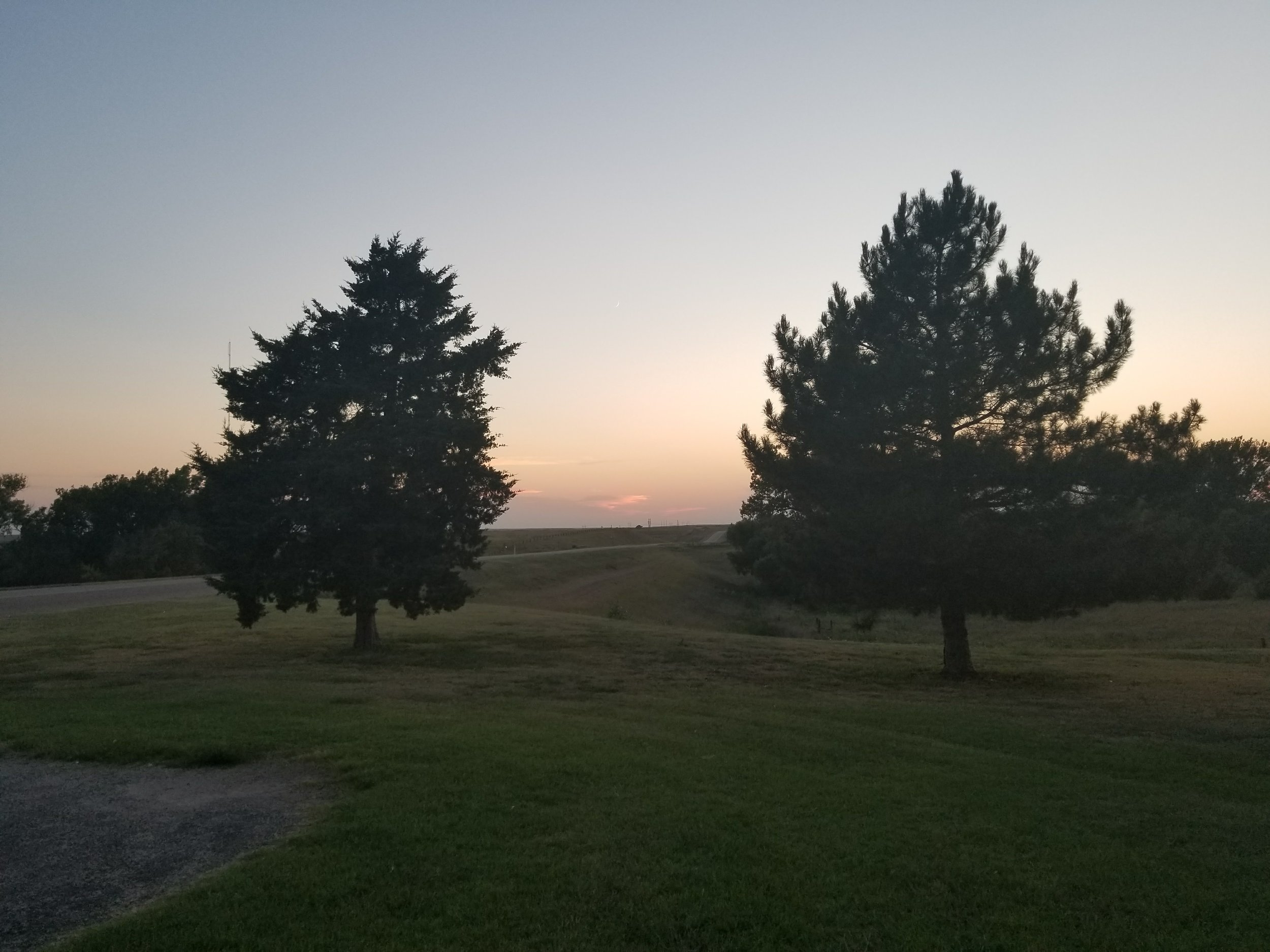 Sunset in Hill City, KS