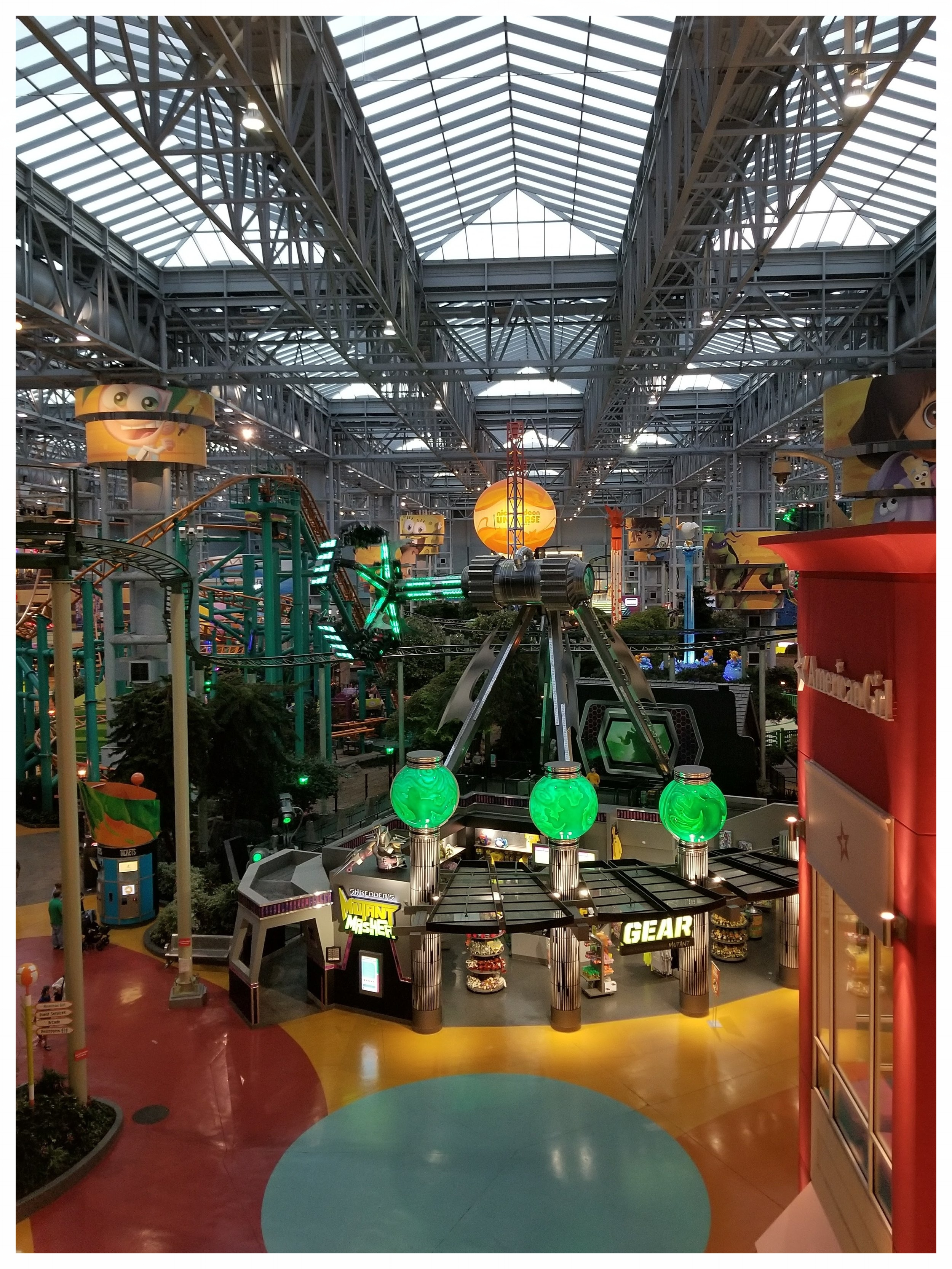 It is a mall with a roller coaster inside, but still just a mall.