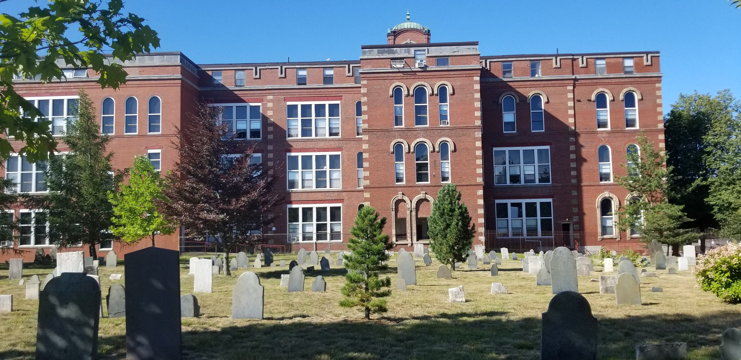 Old North School, which is now an Old Folks home, not sure that is nice seeing as it sits next to a cemetery.