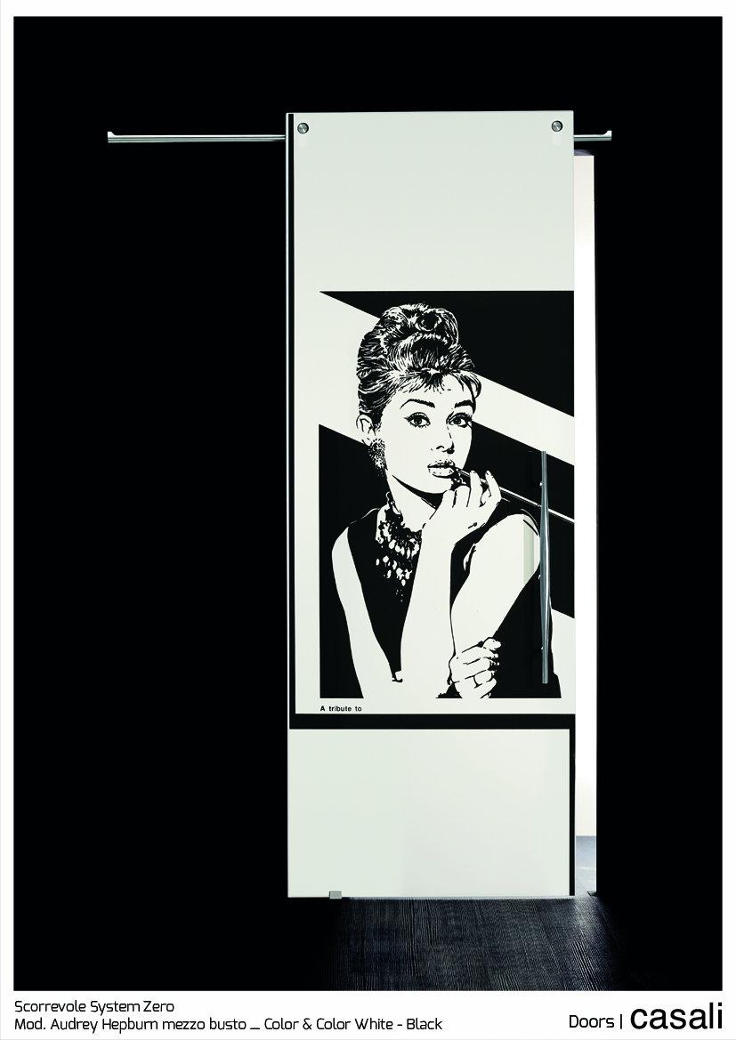 Scorrevole System Zero_mod.  Audrey Hepburn mezzo busto_Color & Color White Black.jpg