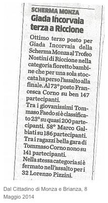 Dal Cittadino di Monza e Brianza, 8/05/2014