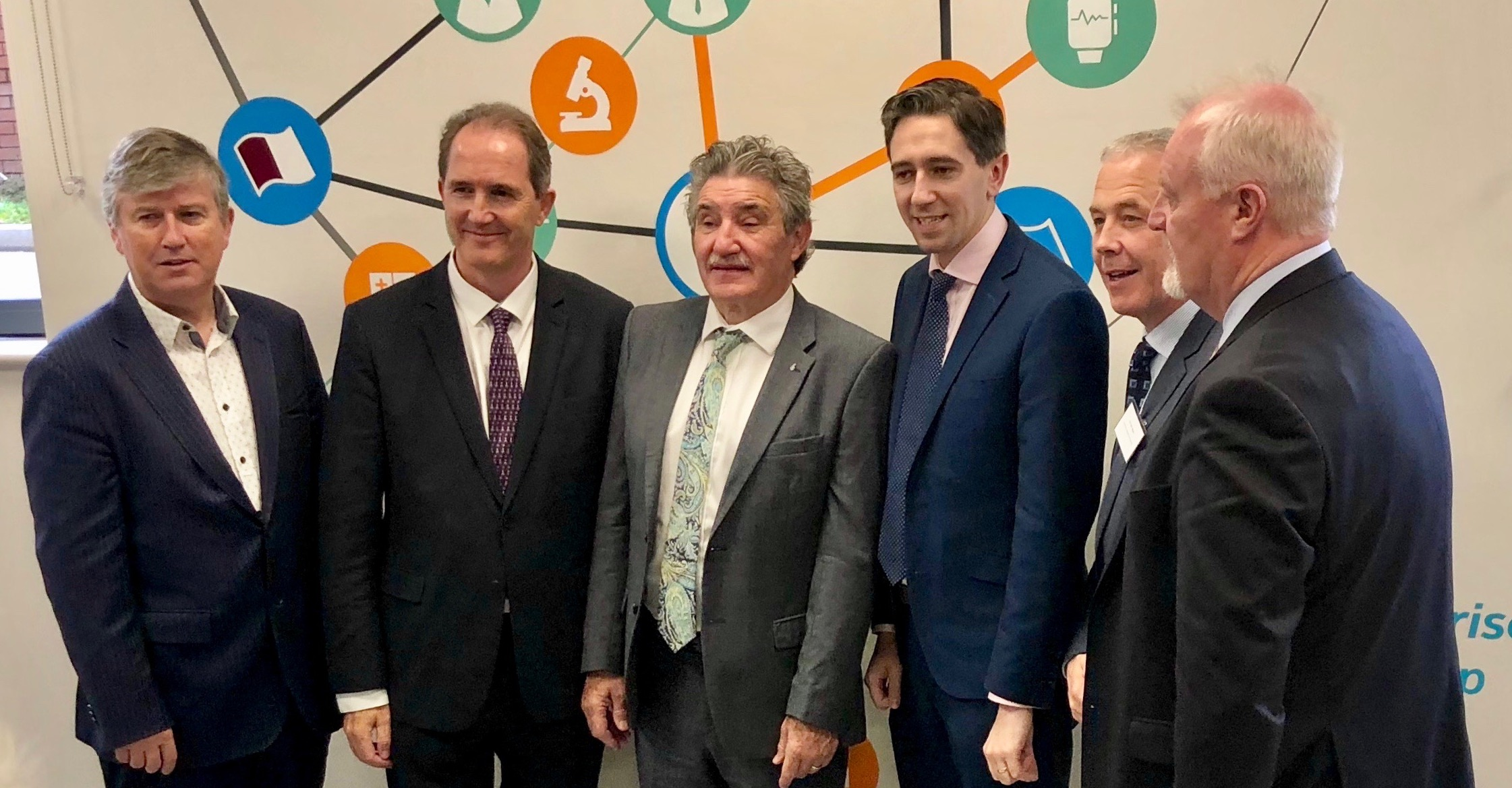 Professor Seamas Donnelly, Mr. Dave Shanahan, Minister John Halligan, Minister Simon Harris, Professor John Higgins and Mr. Colman Casey