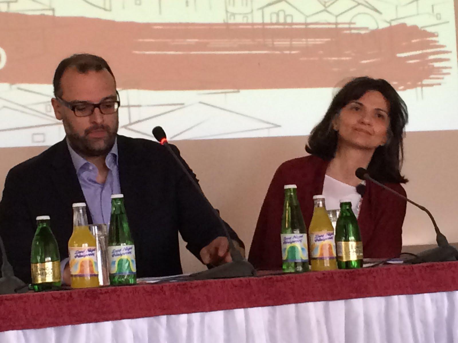 Dr. Leon Nar und Prof. Dr. Maria Kavala im Panel zur Jüdischen Gemeinde von Thessaloniki