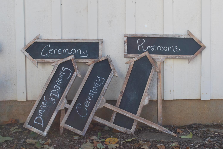 Chalkboard Arrow Signs $25 set of 5