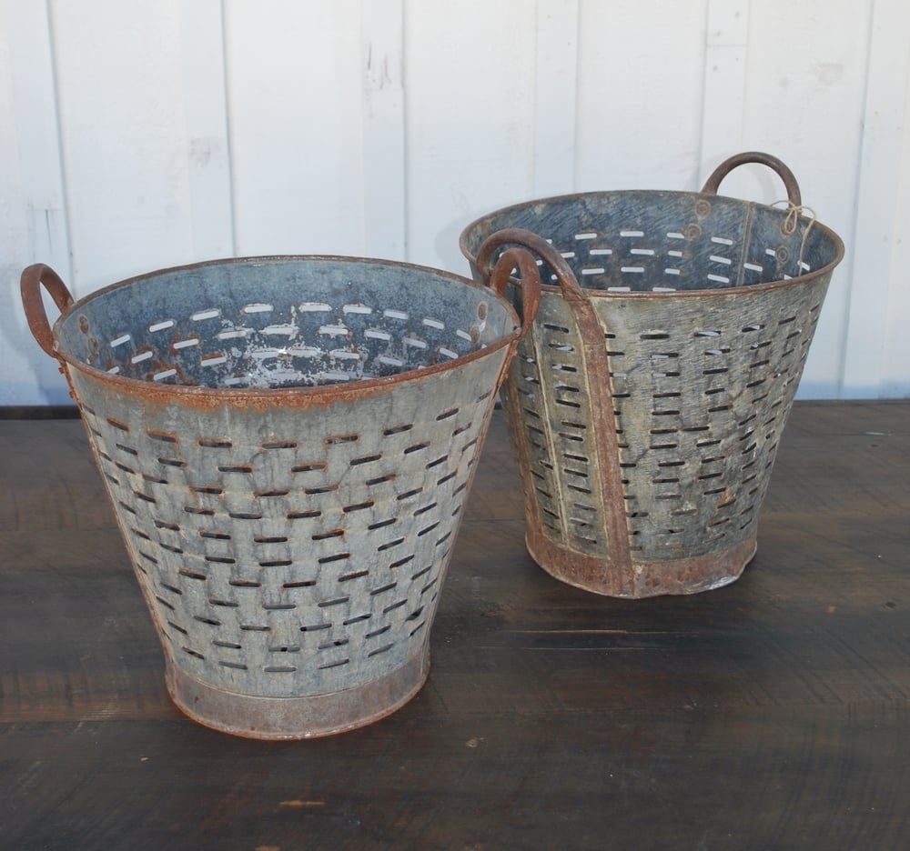 Vintage Olive Buckets $20 each, 2 available