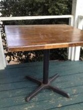"36"" Cafe Table $8 each, 4 available"