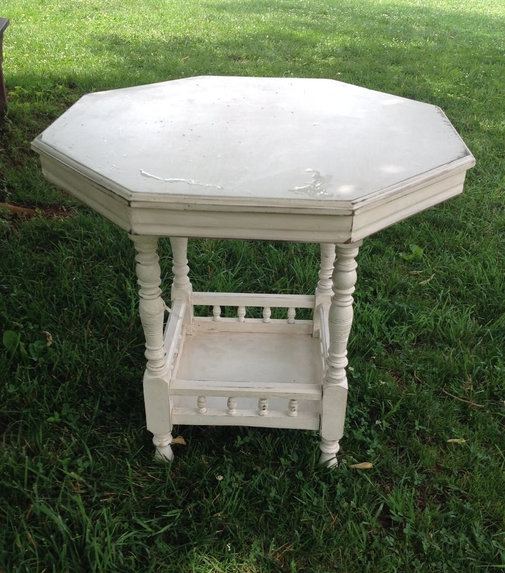 White Wooden Table $10
