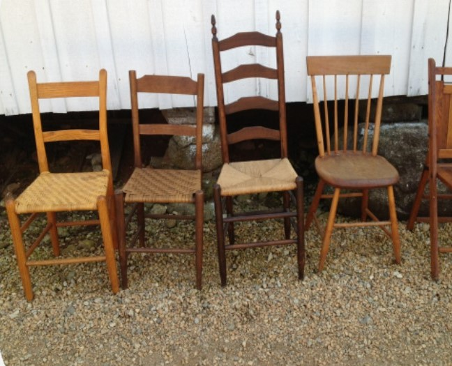 Assorted Vintage Chairs $3 each, 25+ available