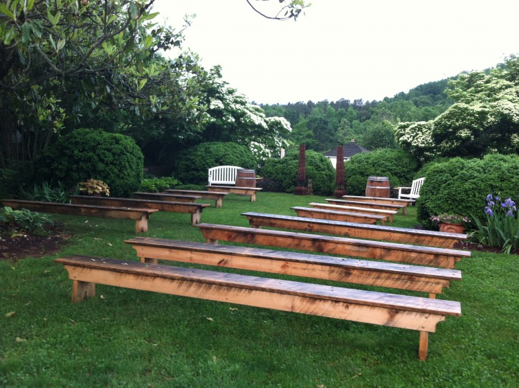 Benches $12 per 6' bench, 10 available $18 per 12' bench, 10 available