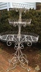 Large Metal 3 tiered Stand $8, 2 Available