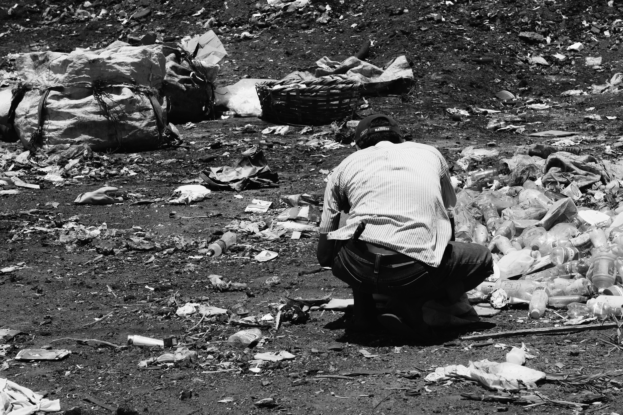 We went to the Dump on day 2. People go here to find recyclable goods to make some money. Unfortunately most of the stuff already went through the recycle process in Managua, so these people hopelessly dig through the scraps and dirt to find something.