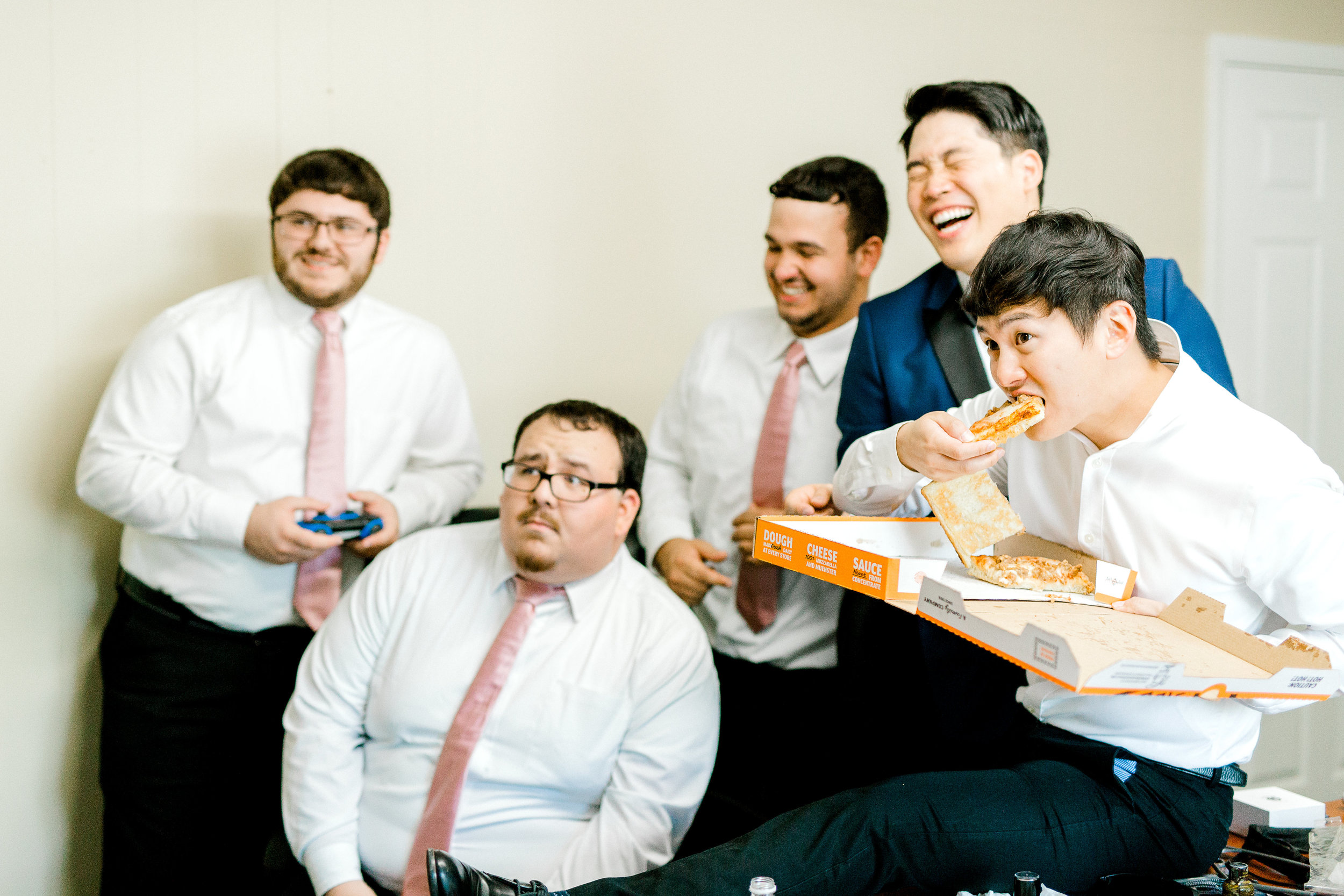 Pizza & video Games for the guys!