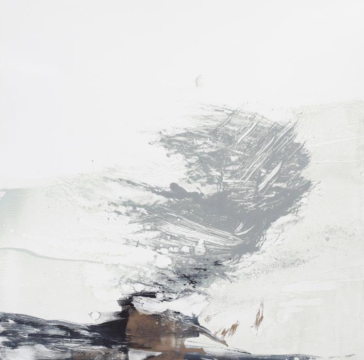 'Void burst' Mono print 56x54cm Work currently with North Coast Asylu