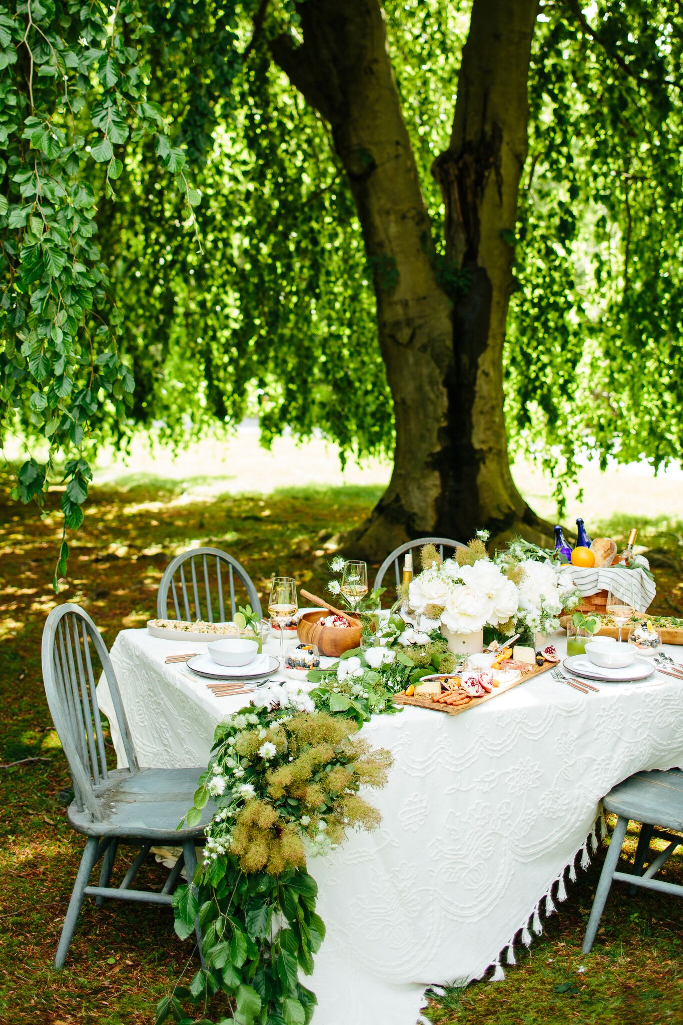 Picnic Under a Willow