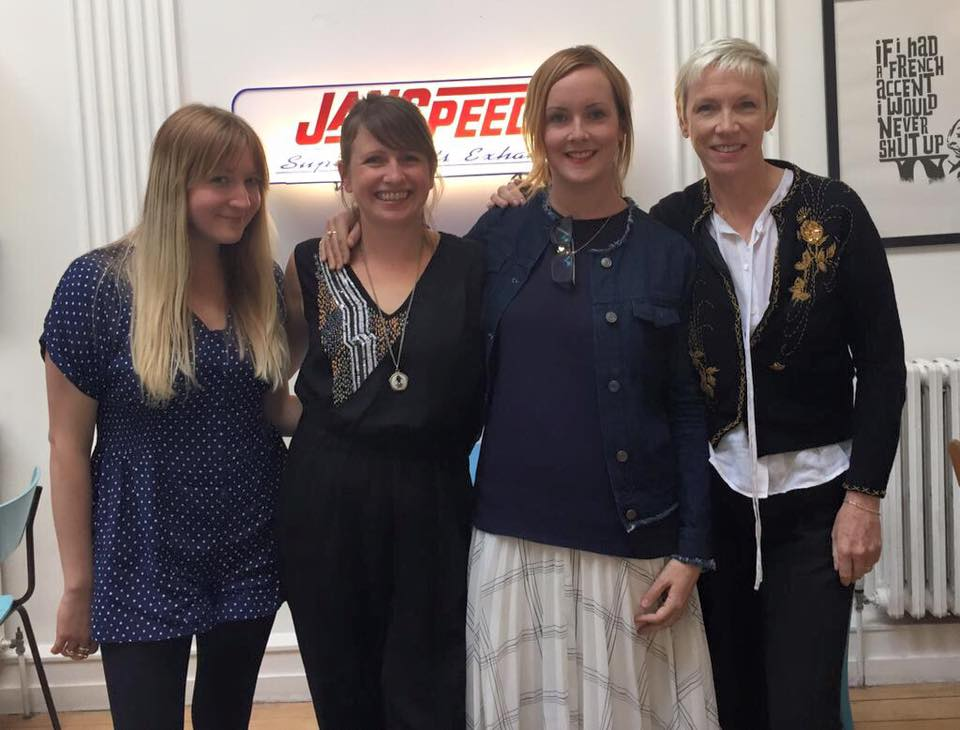 L-R: Kate Hutchinson (The Music Circle), Emily Cooper (The Music Circle, Founder) Laura Martin (The Music Circle) and Annie Lennox (The Circle Founder)